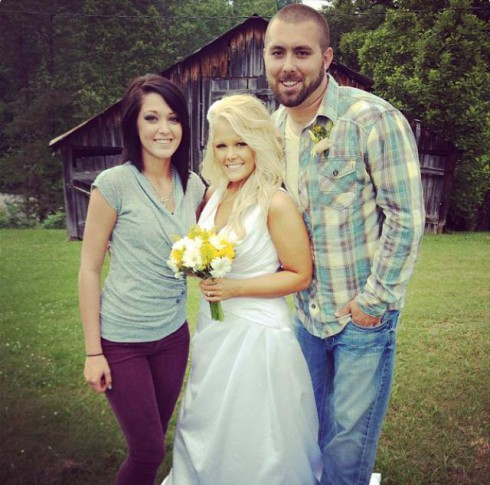 Corey Simms and Miranda Simms wedding photo