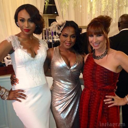 Bridesmaid Cynthia Bailey Phaedra Parks Jill Zarin at NeNe Leake's wedding_