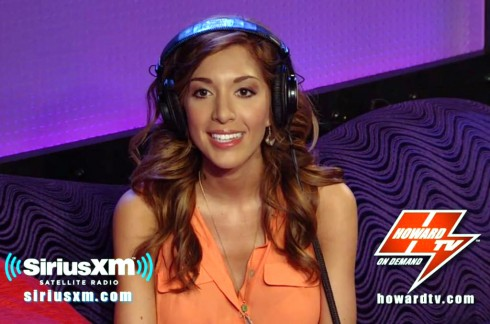 Farrah Abraham appears on The Howard Stern Show