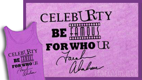 Abraham anti-bullying tank top for The Brand UR with CelebURty be famous for who UR