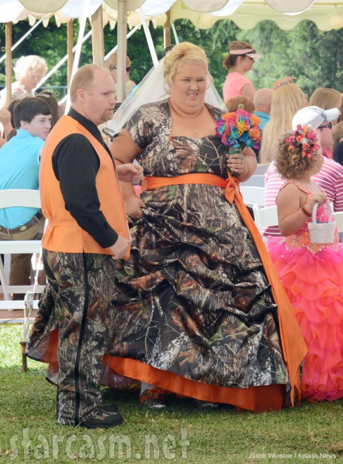 Honey Boo Boo's Mama June and Sugar Bear wedding photo