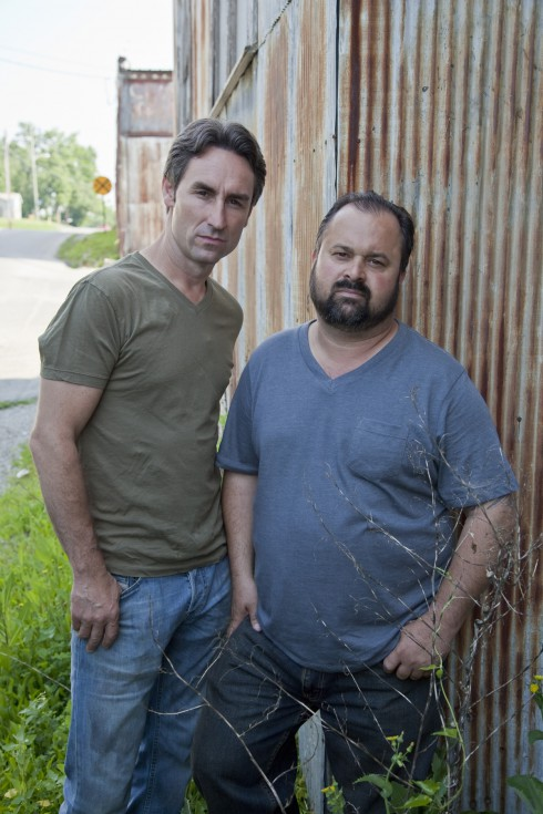 Mike Wolfe and Frank Fritz from American Pickers