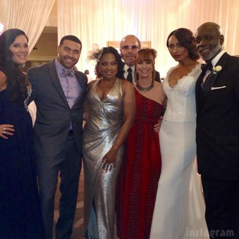 NeNe Leakes wedding photo with Patti Stanger Apollo Nida Phaedra Parks Bobby Zarin Jill Zarin Cynthia Bailey and Peter