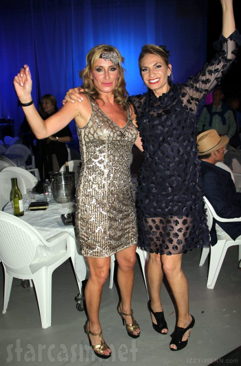 Sonja Morgan and Heather Thomson Great Gatsby burlesque cabaret show
