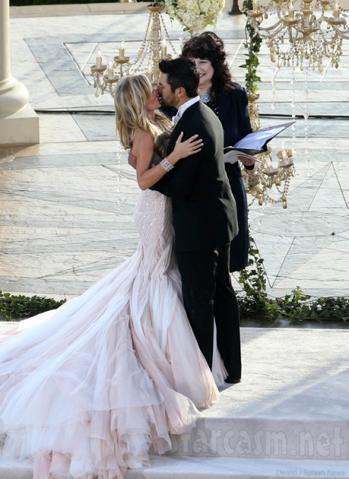 Tamra Barney Eddie Judge wedding photo kissing the bride
