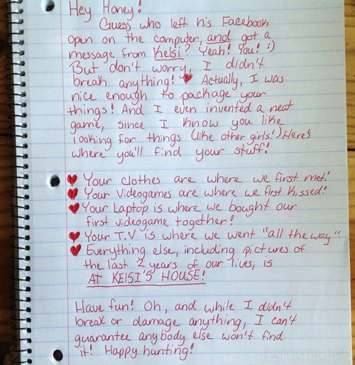Girl breaks up with boyfriend with hand written note sending him on a ...