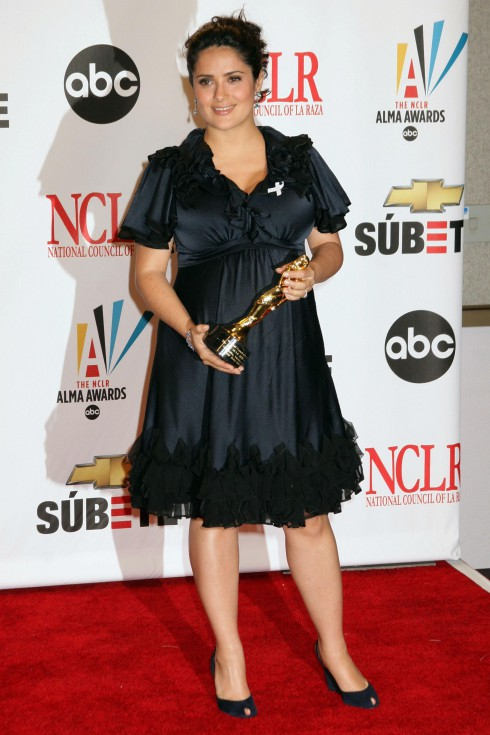 Pregnant Salma Hayek- winner Outstanding Television Series 'Ugly Betty' at the 2007 NCLR ALMA Awards held at the Civic Center - Press Room in Pasadena, California on January of 2007.