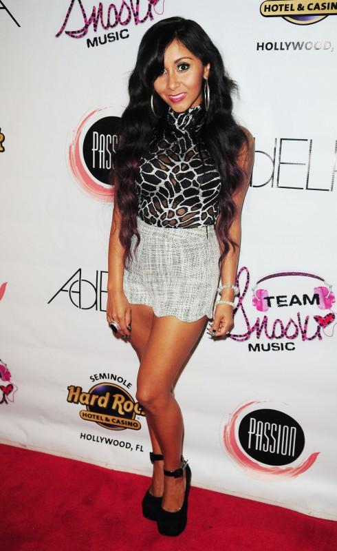 Nicole 'Snooki' Polizzi at Passion Nightclub Seminole Paradise in Seminole Hard Rock Hotel and Casino in Hollywood, Florida, United States.