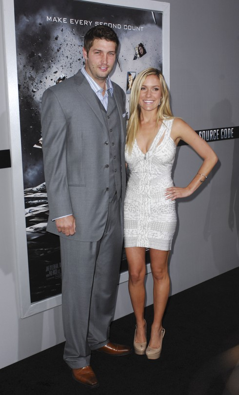 Jay Cutler and Kristin Cavallari at the Los Angeles Premiere of 'Source Code' held at the Arclight Cinerama Dome - Arrivals in Los Angeles, California.