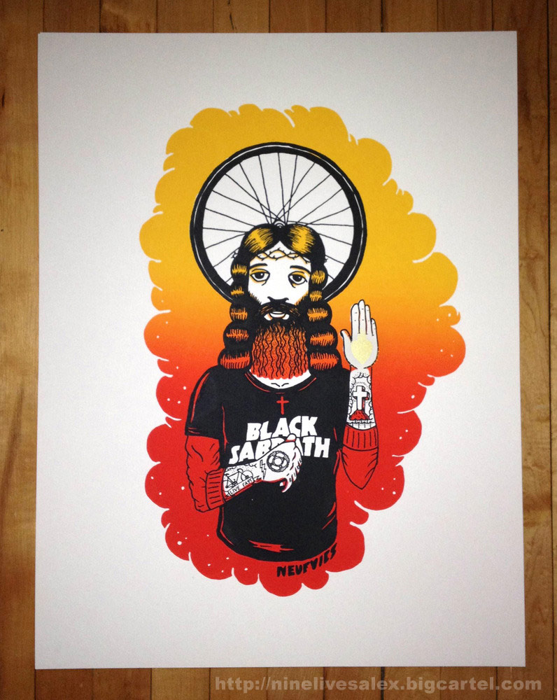 Da da danielle colby cushman tattoos - Alexandre De Meyer Rider Jesus Screen Print Poster