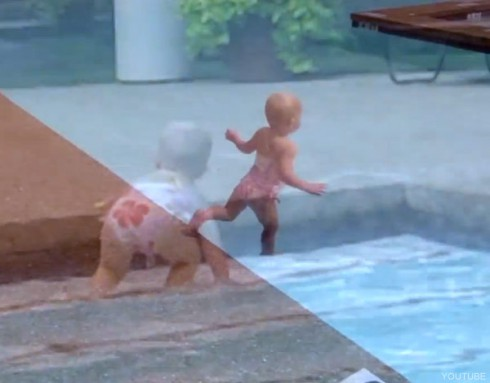16-month-old Elizabeth jumps in th pool in viral Youtub video