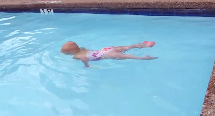 16 month old baby swimming youtube video goes viral 3 month old baby swimming pool