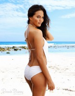 Beach Bunny Swimwear Chrissy Teigen bridal swimsuit The Plunge one-piece back