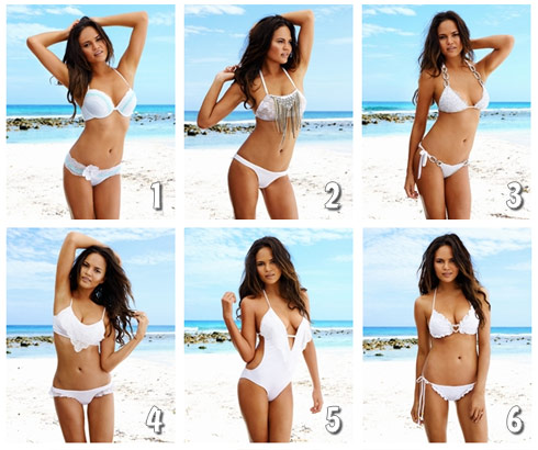 Chrissy Teigen bridal swimwear line all