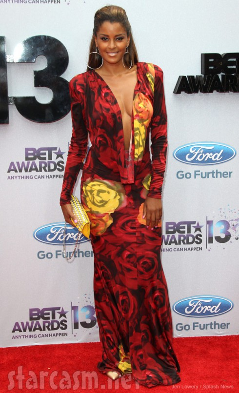 2013 BET Awards red carpet Claudia Jordan