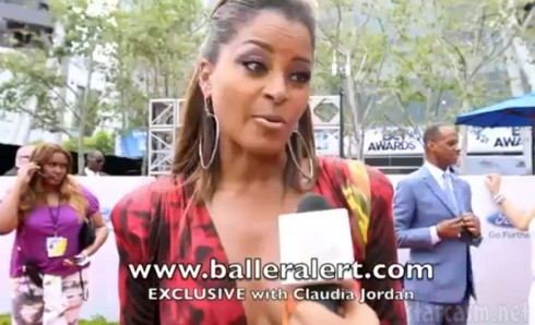 Claudia Jordan BET red carpet Omarosa fight interview