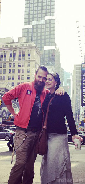 Danielle Colby with husband Alexandre De Meyer in New York City