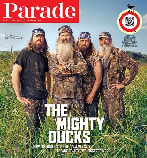 Duck Dynasty Parade magazine cover 2013