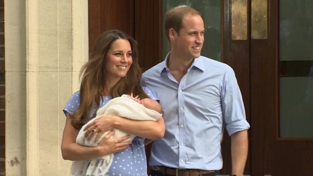 But kate middleton and prince william had a son above is the first