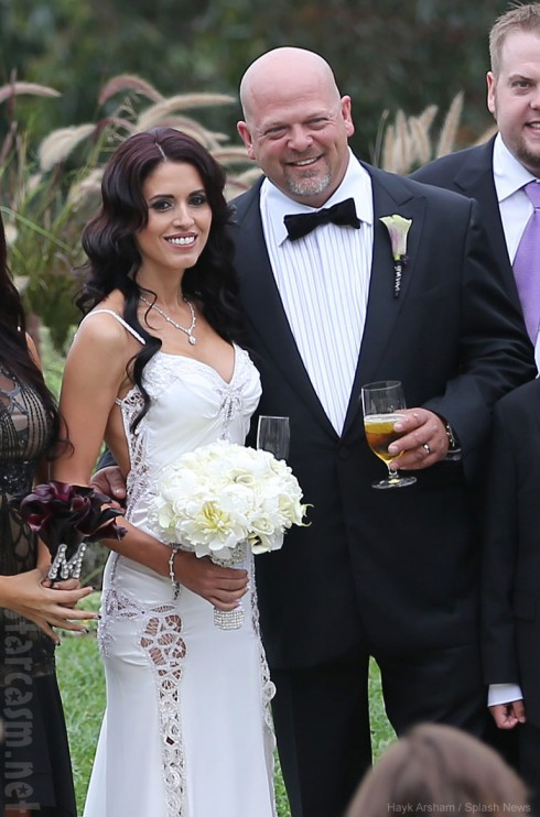 Pawn Stars Rick Harrison wedding photo with bride DeAnna Burditt
