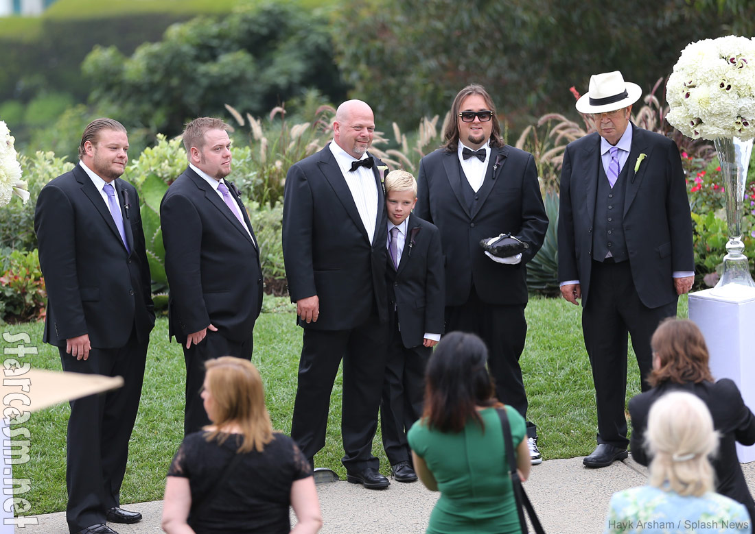 Rick Harrison wedding Chumlee Old Man and Rick's sons Corey Adam and