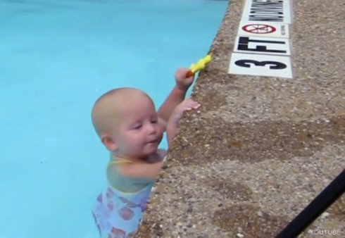Viral youtube video star Swimming baby Elizabeth