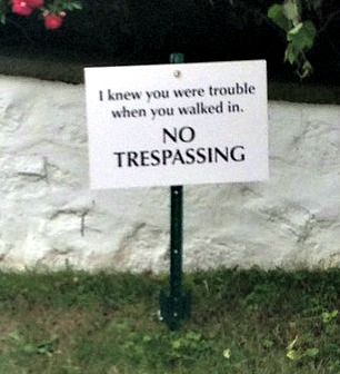 Taylor Swift No Trespassing Sign