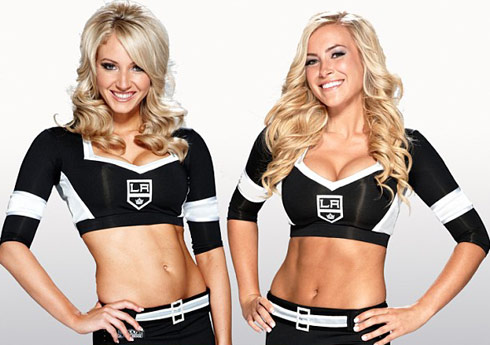 LA Kings Ice Girls Ally Mello Ashley Covert The Amazing Race