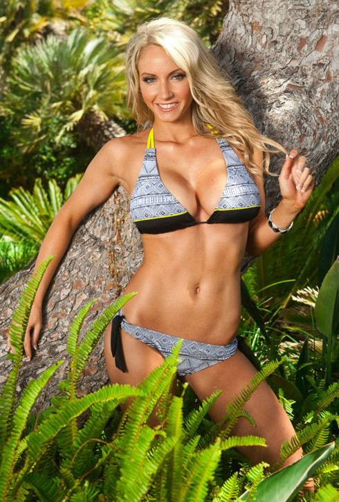 Ashley Covert LA Kings Ice Girl bikini The Amazing Race