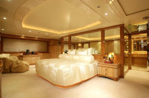 Bedroom on Below Deck yacht
