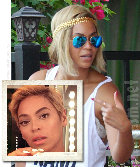 PHOTOS Beyonce's hair gets a lot longer in just 7 days