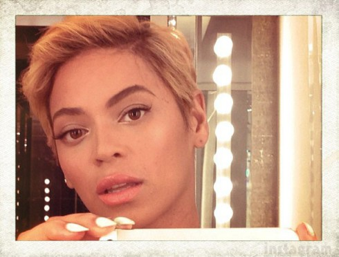 Beyonce short hair phot2013