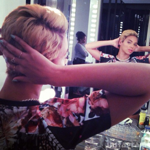 Beyonce shorter blonde hair