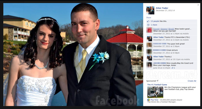 Breaking Amish LA Betsy husband Allen Yoder wedding photos on Facebook