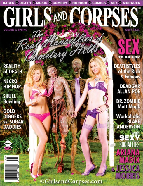 Girls and Corpses magazine cover The Real Housewives become the Real Houseflies