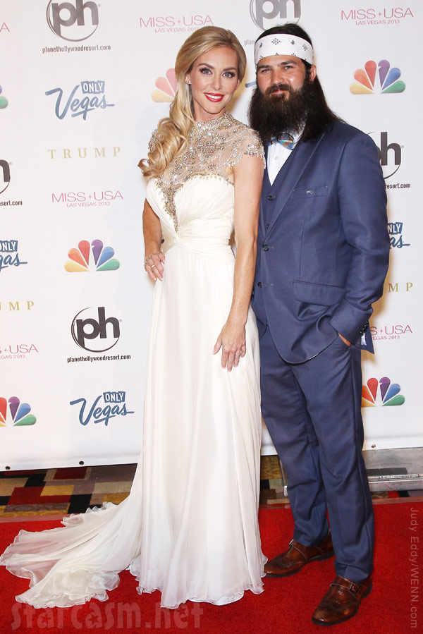 Duck Dynasty Jep Robertson with wife Jessica Robertson on the red