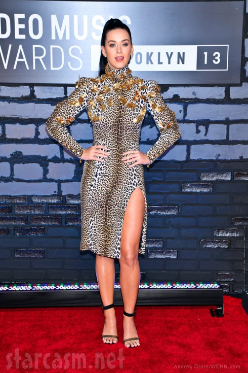 Photos Katy Perry Is Roargeous In Leopard Print At 2013 Vmas