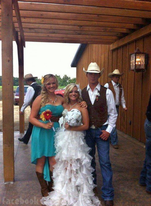 Teen Mom 3 Mackenzie Douthit Josh McKee wedding photo