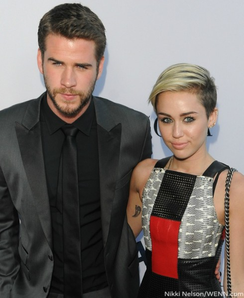 Miley and Liam Paranoia Premiere