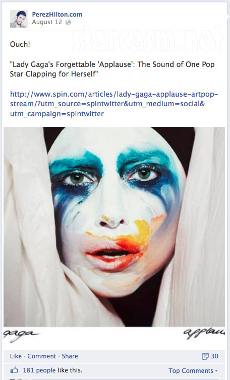 Perez Hilton attacks Lady Gaga online
