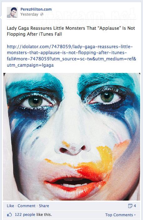 Perez Hilton feuds with Lady Gaga online