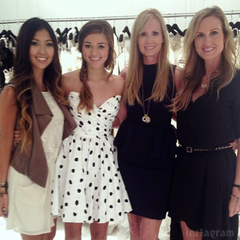 Rebecca Sadie Robertson Korie Robertson Chrys Howard at Sherri Hill