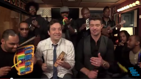 robin thicke x the roots x jimmy fallon perform blurred