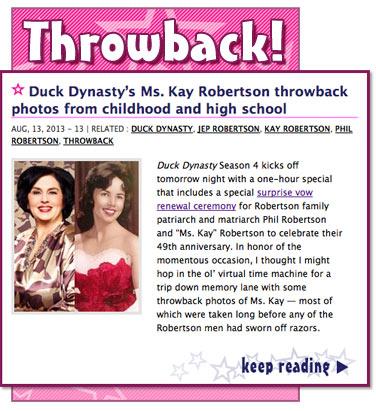 Duck dynasty – kay robertson – a&e, Meet kay robertson from a&e