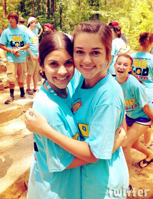 Sadie Robertson and Kolby Koloff at camp together