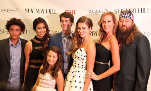 Sadie Robertson with sister Bella and Rebecca, brother Lil Will, mom Korie and dad Willie