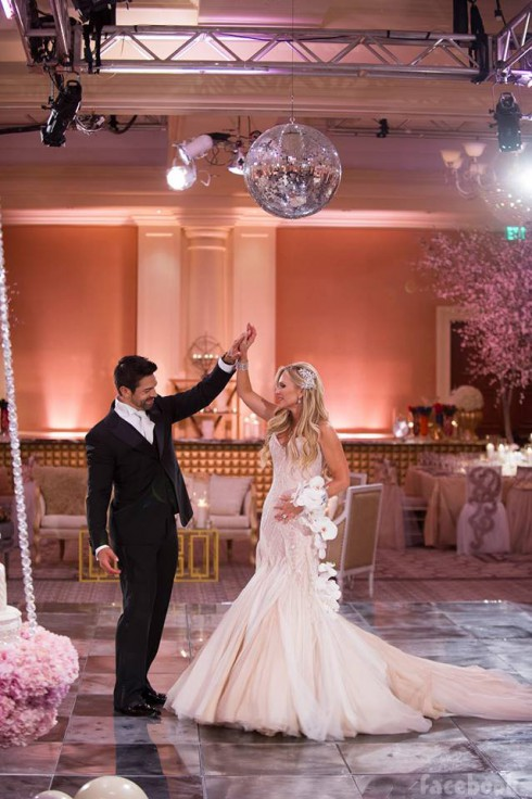 Tamr and Eddie Judge share their first dance after their wedding