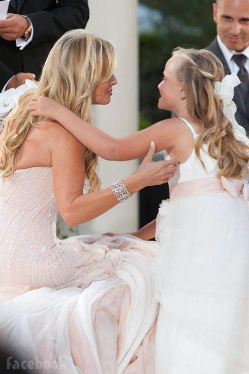 Tamra Judge and her daughter Sophia at Tamra's wedding