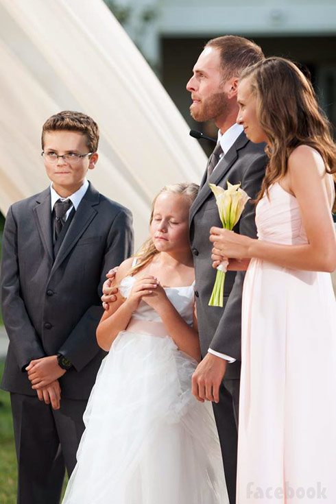 Tamra Barney's children at her wedding