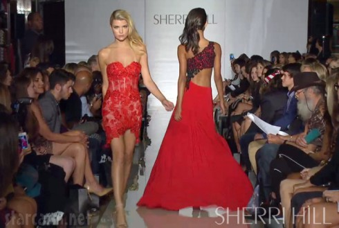 Uncle Si Nick Jonas Countess LuAnn Sherri Hill fashion show Spring 2014 collection